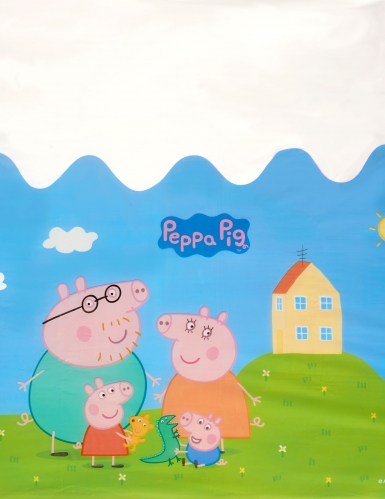 Tovaglia in plastica di Peppa Pig™ colorata-1