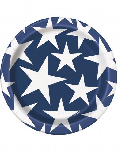 8 piattini stelle USA 18 cm