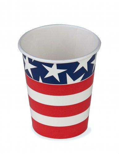 8 bicchieri USA di carta
