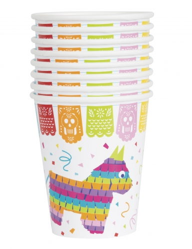 8 bicchieri in cartone festa messicana