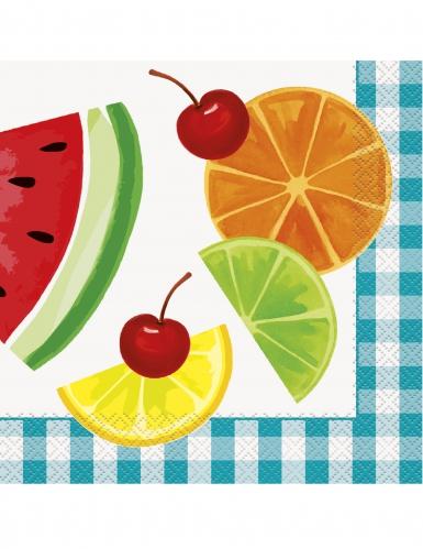 16 tovaglioli di carta frutta