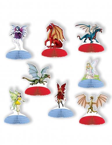 8 mini centrotavola draghi e fate