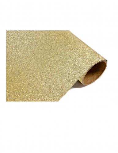 Runner da tavola plastica dorato con brillantini