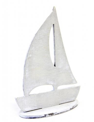 Barca a vela decorativa grigia