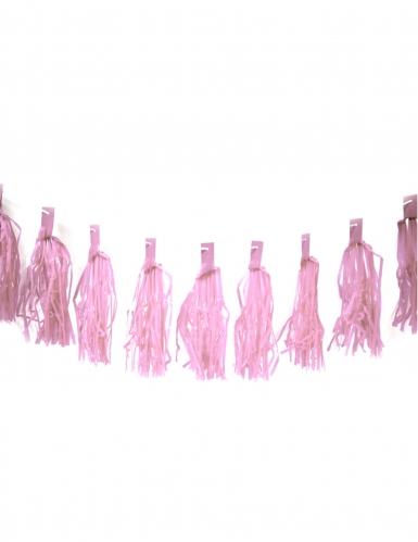 Ghirlanda di 20 pon pon rosa