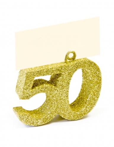 Segnaposto con brillantini oro numero 50