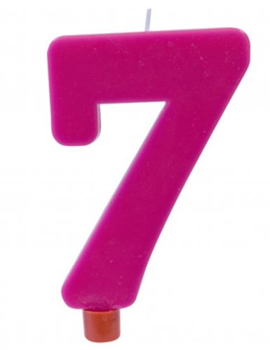 Candelina gigante fucsia numero 7