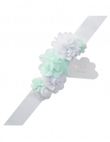Cintura con fiori menta Mum to be