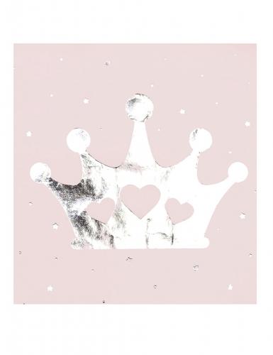 16 tovaglioli di carta rosa con corona