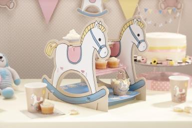 Alzata per Cupcake Cavallo a dondolo 9.8 x 13.5 x 14.2 cm-1