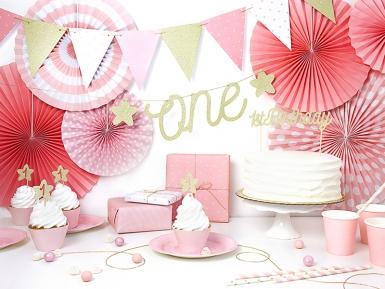 3 rosoni decorativi color rosa cipria-1