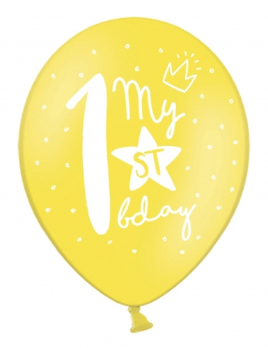 6 palloncini colorati My 1st birthday-1