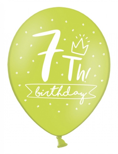 6 palloncini colorati My 7th birthday-1