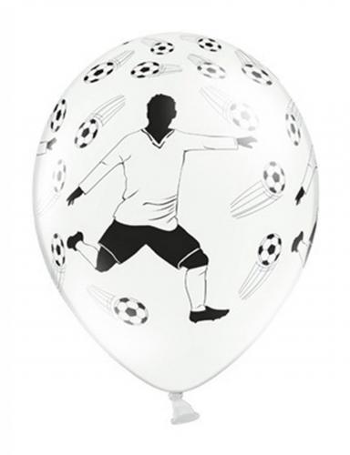 6 palloncini calcio con giocatore