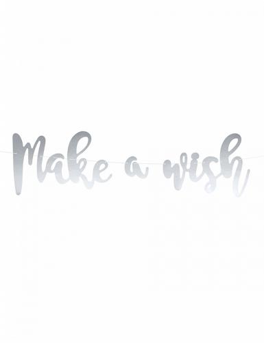 Ghirlanda fai da te Make a wish color argento