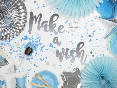 Ghirlanda fai da te Make a wish color argento-1
