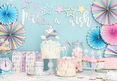 Ghirlanda fai da te Make a wish color argento-2