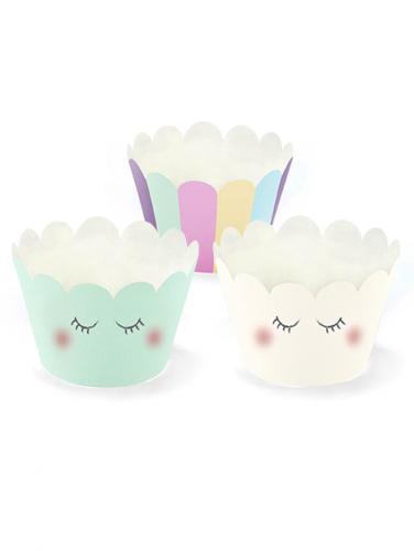 6 pirottini per cupcakes unicorno