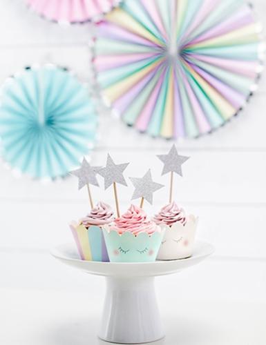 6 pirottini per cupcakes unicorno-2