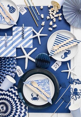 9 decorazioni per dolci blu tema marino-1