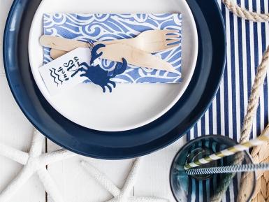 6 etichette blu a forma di pesci-3