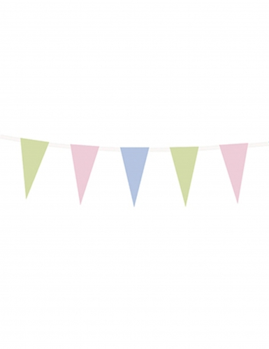 Ghirlanda di carta con bandierine pastello