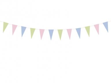 Ghirlanda di carta con bandierine pastello-1