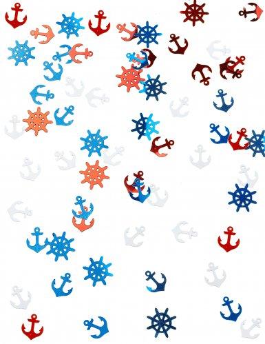 Coriandoli da tavola metallici tema marino