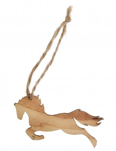 6 segnaposto cavallo in legno