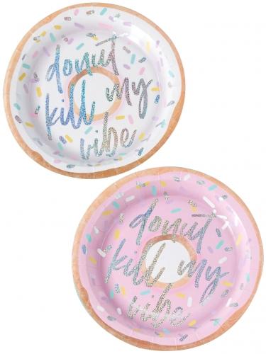 8 piatti in cartone Donut kill my vibe 25 cm