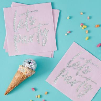 16 tovaglioli di carta Let's Party iridescente-1