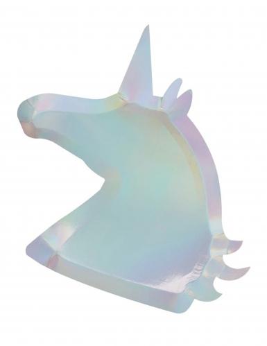 8 vassoi in cartone unicorno iridescente