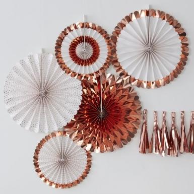 5 rosoni oro rosa metallizzati-1