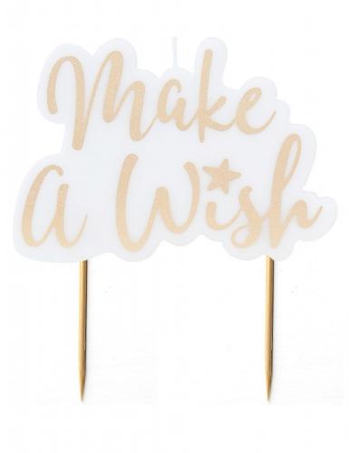 "Candelina Make a wish"" dorata 8 x 11 cm"""