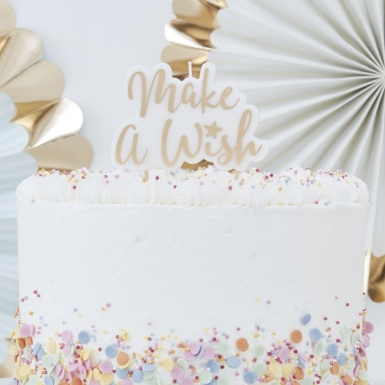 "Candelina Make a wish"" dorata 8 x 11 cm""-1"