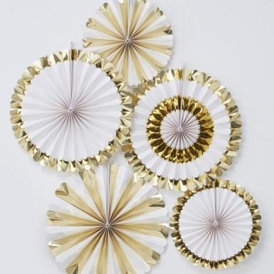 5 rosoni bianchi e oro metallizzato-1
