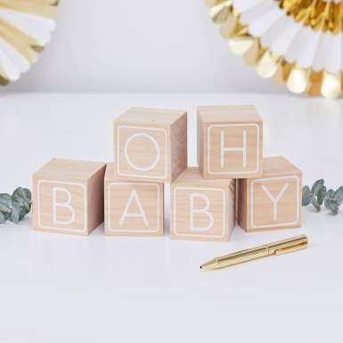 Libro per firme con cubi Oh Baby-1