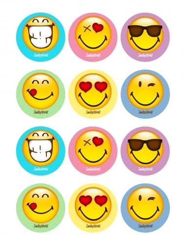 12 decorazioni di zucchero per biscotti Smiley™
