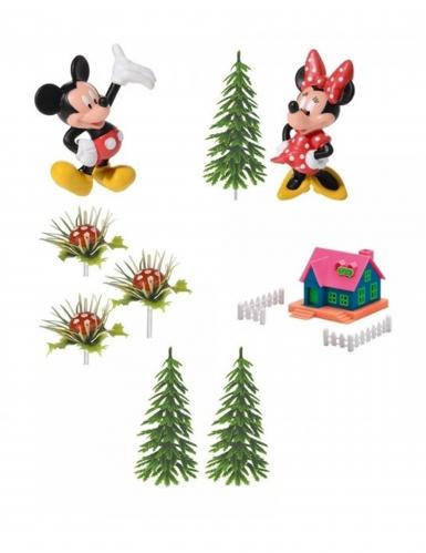 9 Decorazioni per torta Minnie™ e Topolino™