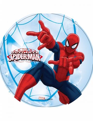 Disco ostia blu e rosso Spiderman™ 21 cm