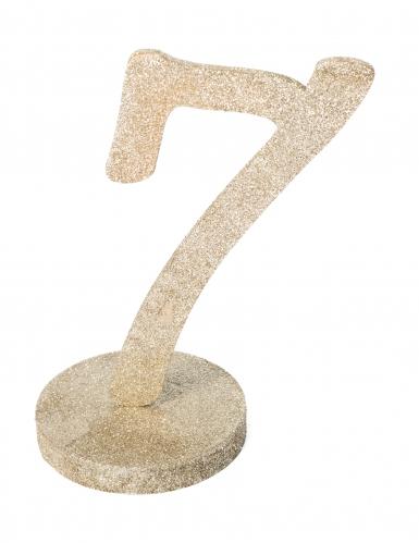 Centrotavola color champagne numero 7