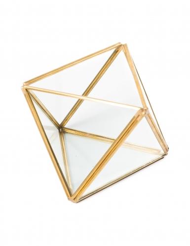 Terrario geometrico cubo color oro