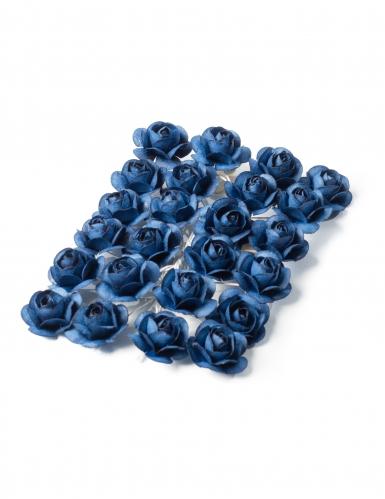 24 mini rose blu con asticella