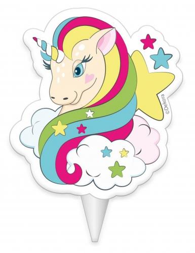 Candelina di compleanno unicorno multicolor