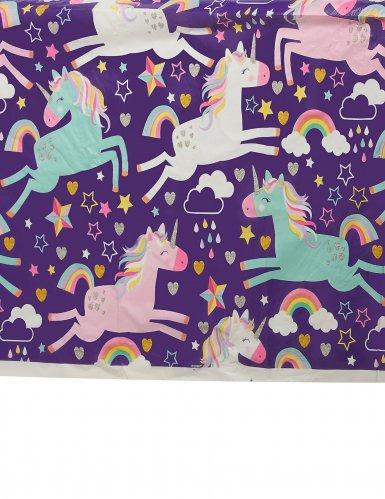 Tovaglia in plastica party unicorno-1