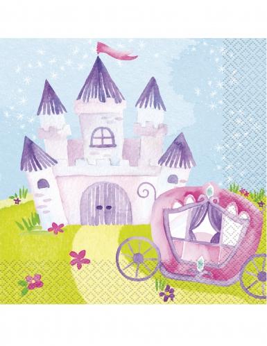 16 tovaglioli di carta principessa magica