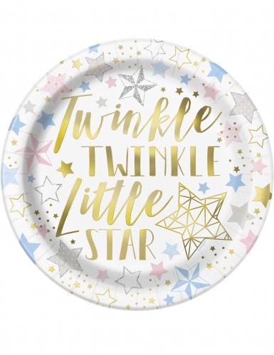 8 piatti Twinkle Twinkle Little Star 23 cm