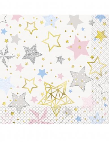16 Tovaglioli di carta Little Star Stelle Colorate