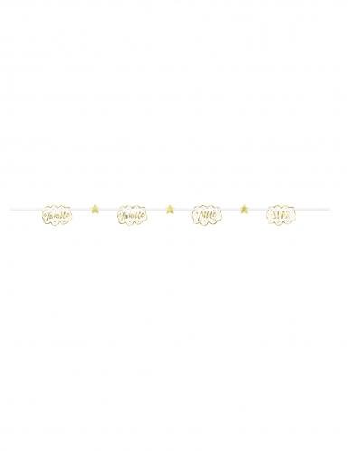 Ghirlanda in cartone Twinkle Twinkle Little Star oro e bianco-1