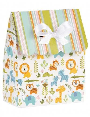 12 sacchetti regalo animali della giungla a righe